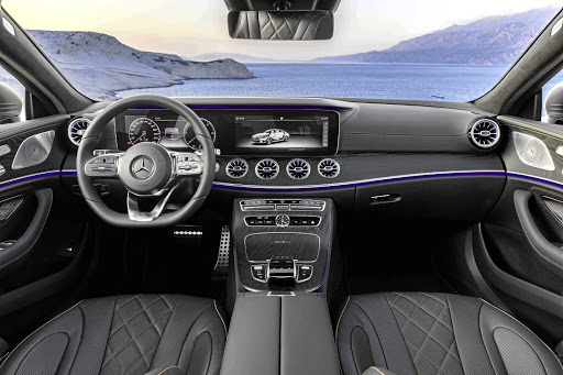 The interior gets much of the kit from the E-Class but there are also some new items making their debut.