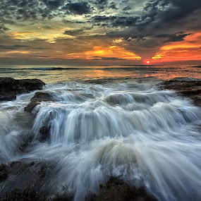 by Made Suwita - Landscapes Beaches ( limabeach, bali, indonesia, sunset, wave, beach, tabanan )