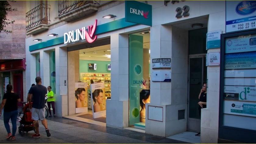 Un establecimiento  de Druni en el Paseo, el actual líder del sector.