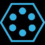 SL Theme Holo Blue Hexagon 2.2