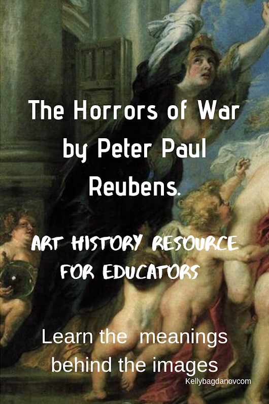 A wonderful video explaining the mythological inconography Ruben's used to paint about the effects of war. Clear explanations and great insights for adults and students. #kellybagdanov #homeschool #homeschooling #arthistory #arthistoryresource #charlottemasonresource #classicalconversationresource #sonlightresource #storyoftheworldresource #Peterpaulreubens #teachingrubensresources #pacifismresources #pacifism #teachingrubens #rubensresource