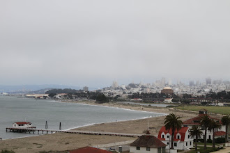 Photo: Along the coast and past the Presidio to look back at views of the city.