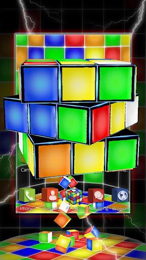 Descargar Tema Del Cubo 3d Neon Rubik 112 Android Apk