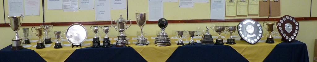 Photo: Cups await presentation.