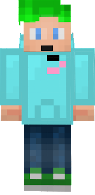 My skin with a Flamingo hoodie and shirt