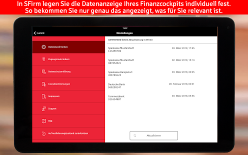 S-Finanzcockpit für Firmen-Kunden der Sparkassen for PC-Windows 7,8,10 and Mac apk screenshot 14