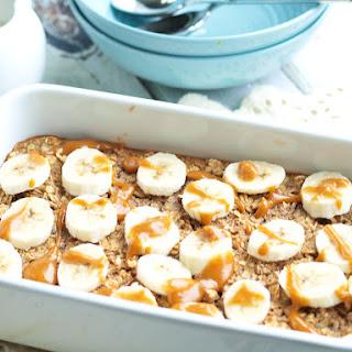 Baked Banana Peanut Butter Oatmeal.