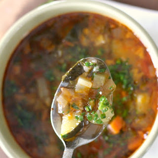 Minestrone with Parsley Pistou.