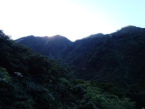 赤谷山を望む(中央左のピーク)