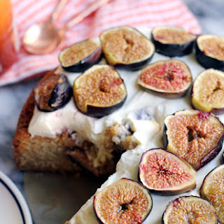 Almond Honey Cake with Roasted Figs and Mascarpone Frosting Recipe