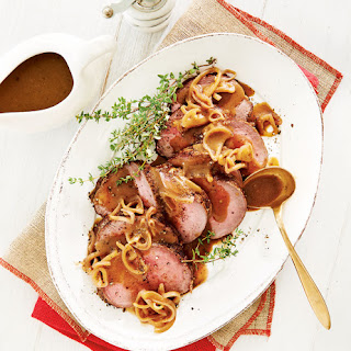 Porcini-Dusted Beef Tenderloin with Sherry Gravy