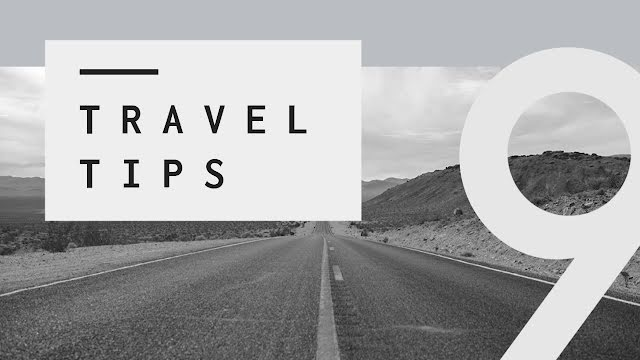 Nine Travel Tips - YouTube Thumbnail Template