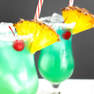 Blue Hawaiian Cocktail (and Mocktail!) Recipe