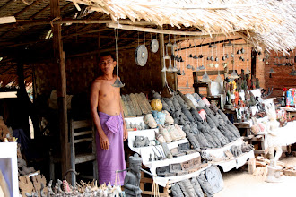 Photo: Year 2 Day 57 - Stall Seller in Sulamani Guphaya Temple