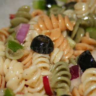 Tri-Color Italian Rotini Pasta Salad.