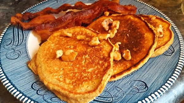 Delicious Pumpkin Wheat Pancakes
