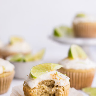 Healthy Key Lime Cupcakes.