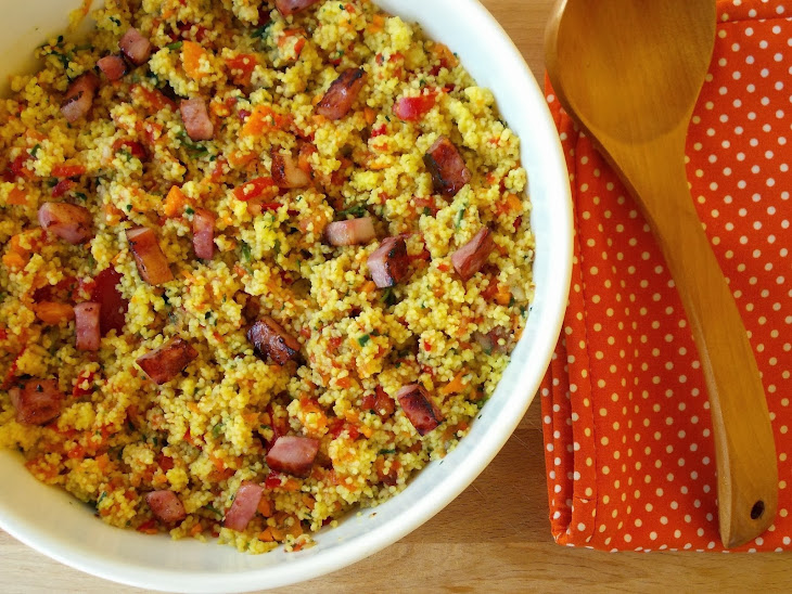 Spicy Saffron Couscous with Vegetables and Bacon Recipe