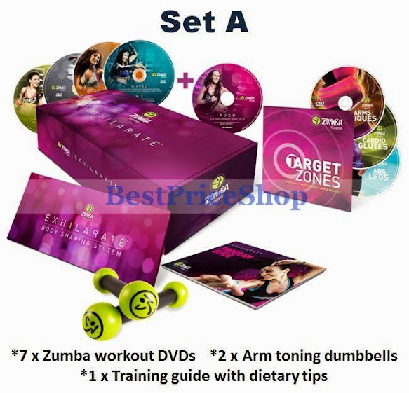 Zumba Fitness Live Dvd: New Zumba Exhilarate Dumbbells 7 DVD (end 6/16/2019 1:58 PM