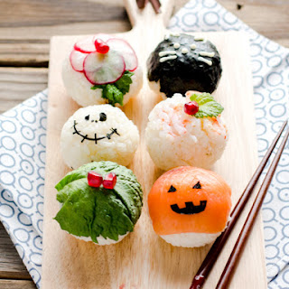 Sushi Balls (Temarizushi)- Halloween Style.