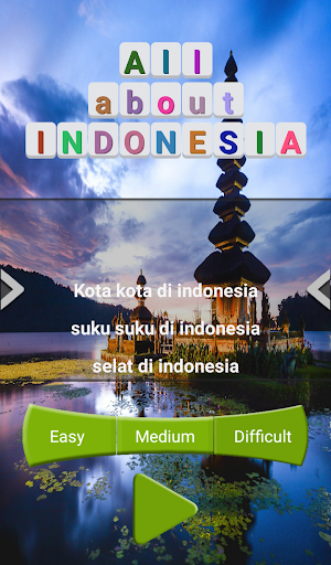All about INDONESIA : Word Search