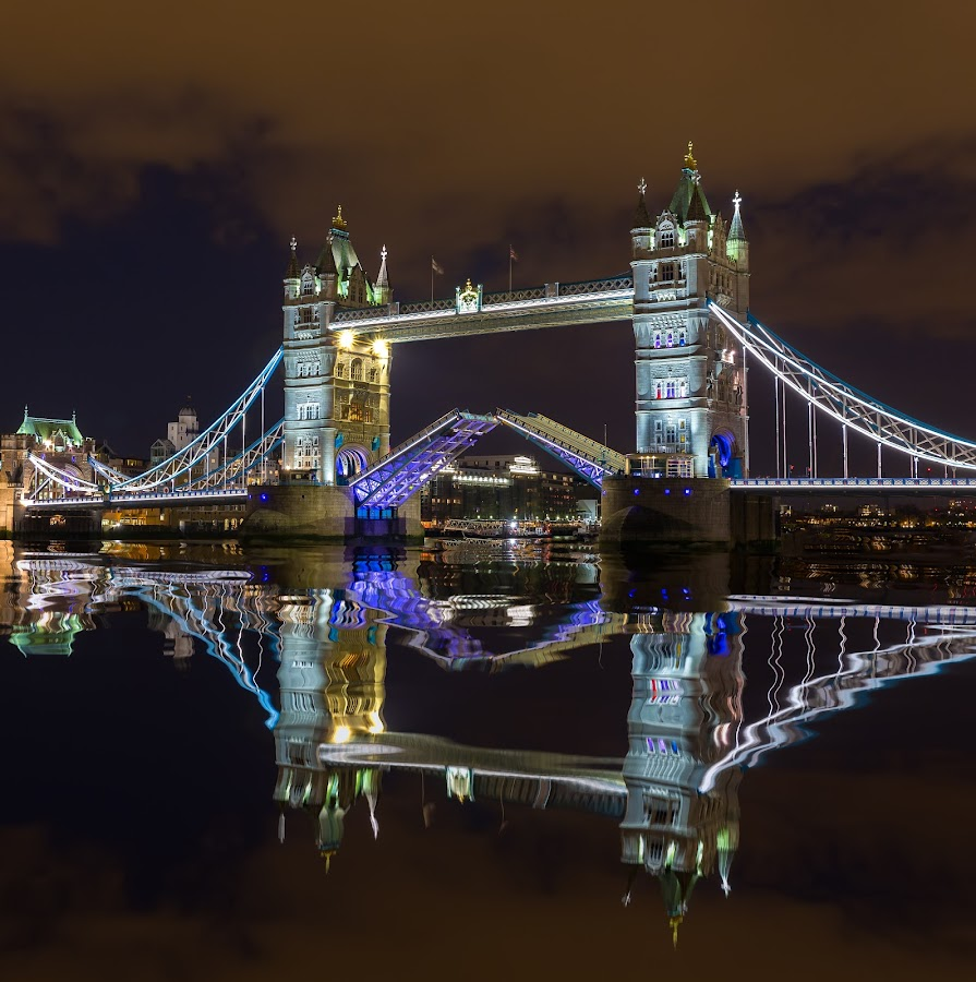 Tower Bridge Opened by Dmitriy Andreyev - Buildings & Architecture Bridges & Suspended Structures