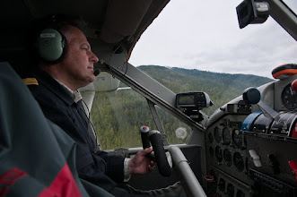 Photo: Our pilot flying us to the Khutzeymateen sanctuary