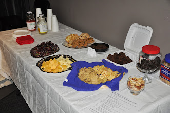 Photo: Time to head back to our meeting room, where plenty of snacks were available all day. Thanks to Angela Terry, Dianne Garcia, and Tanya McDonald for helping with snacks.