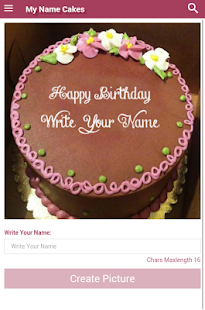 Write My Name Birthday Cakes- screenshot thumbnail