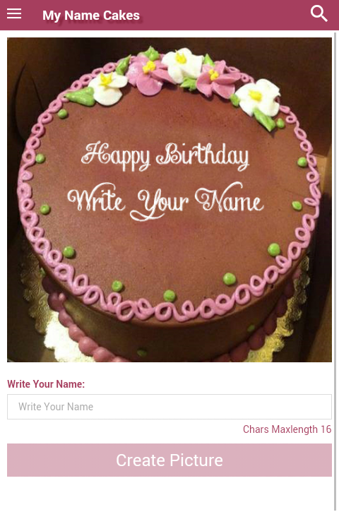 Write My Name Birthday Cakes- screenshot