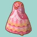 ピンクのぶとうかいのドレス
