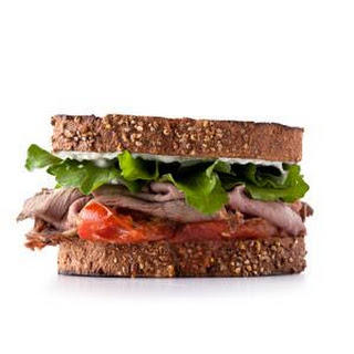 Roast Beef With Roasted Tomatoes Sandwich.