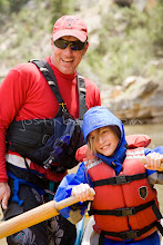 Photo: Young girl learning to row while on a multi-day whitewater raft trip on the Yampa River which flows through Dinosaur National Monument in northeastern Utah.