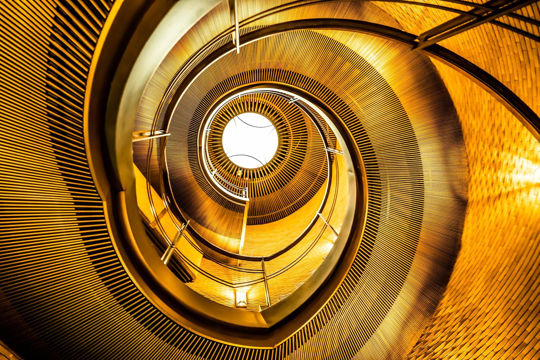 Spiral Staircases Asahi Plaza Umeda2