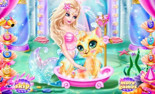 マーメイドペット猫のケア - 女の子