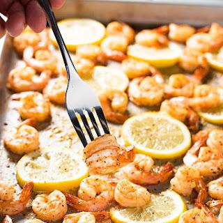 Sheet Pan Lemon Pepper Shrimp.