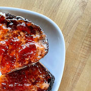 Vermont Creamery Cultured Butter & Strawberry Preserves Toast