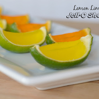 Lemon Lime Jell-O Shots in Lime Peels Recipe
