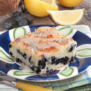 Coconut Blueberry Cake.