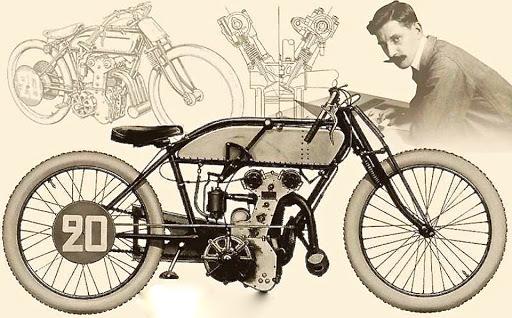 Ernest Henry le père des moteurs modernes. Double arbre à came en tête 4 soupapes.