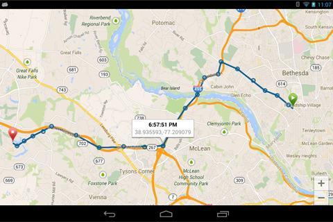 GPSの電話トラック