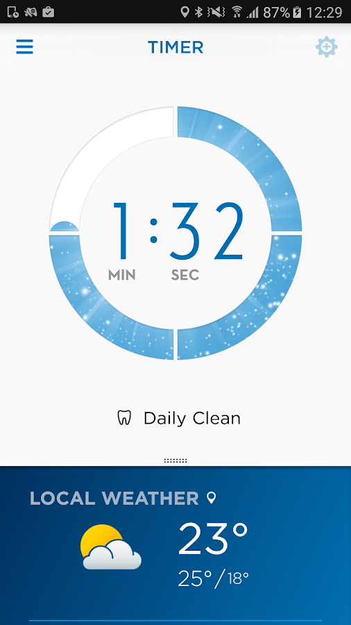 Oral-B App- screenshot