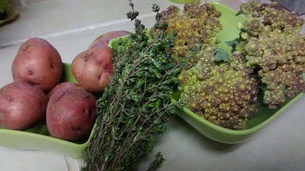 Here are the fresh veggies I started with.