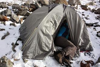 Photo: Namiot utrzymał się na wietrze 70km/h. Unbelievable.