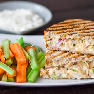 Buffalo Chicken and Grilled Cheese Sandwich.