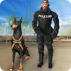 Police dog hero crime city cop k9 dog simulator 3D icon