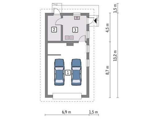 G35b - Rzut garażu