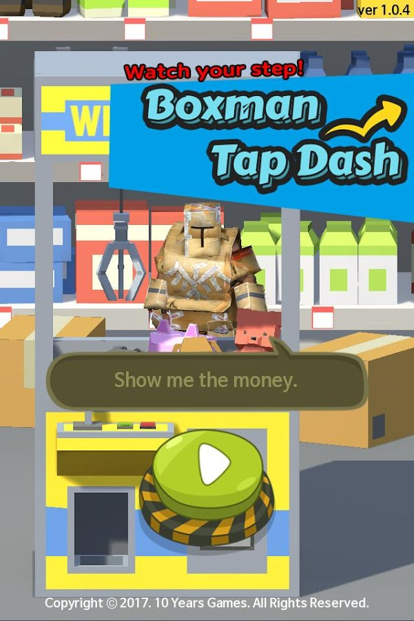 Boxman Tap Dash- screenshot