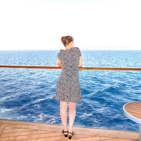Cruising by Russ Quinlan - People Portraits of Women ( travel photography, woman, cruise, ship, travel, water, boat )