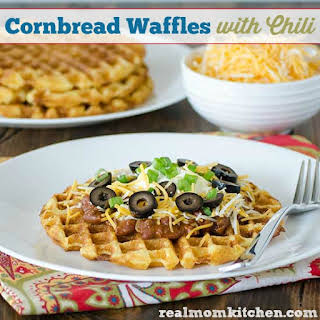 Cornbread Waffles with Chili.